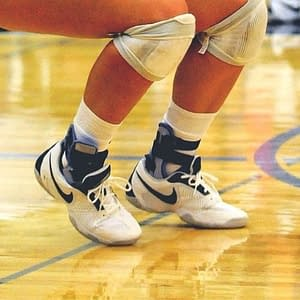 Are basketball shoes bad for volleyball